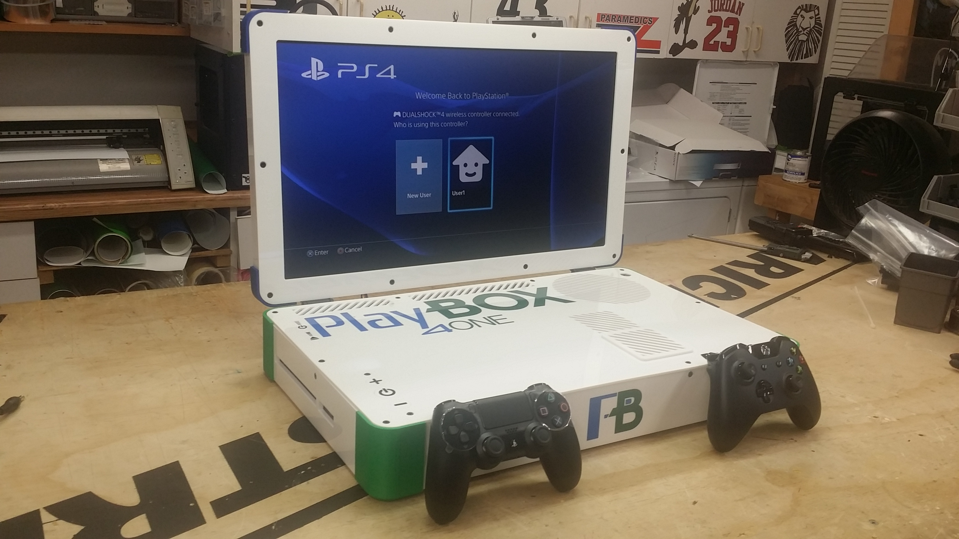 playbox ps4 xbox one combo laptop. Black Bedroom Furniture Sets. Home Design Ideas